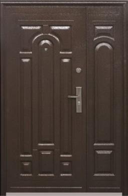 Двустворчатые (полуторные) входные двери ТР-С 117 Китайские. Наружные на улицу. Утепленные минватой, фото 2