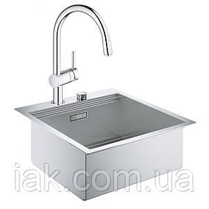 Набір Grohe мийка кухонна K800 31583SD0 + змішувач Minta 32918000