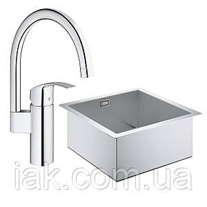 Набір Grohe мийка кухонна K700 31578SD0 + змішувач Eurosmart 33202002