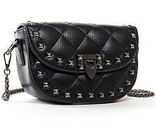 Женская сумочка цепочке. Кожаный женский клатч. Красивая стеганая сумка-клатч. С215