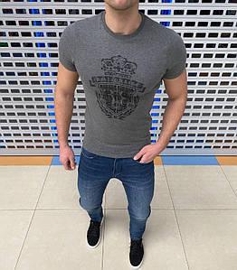 Мужская футболка. Материал хлопок. Приталенные, приятные к телу. Размеры: S-2XL.