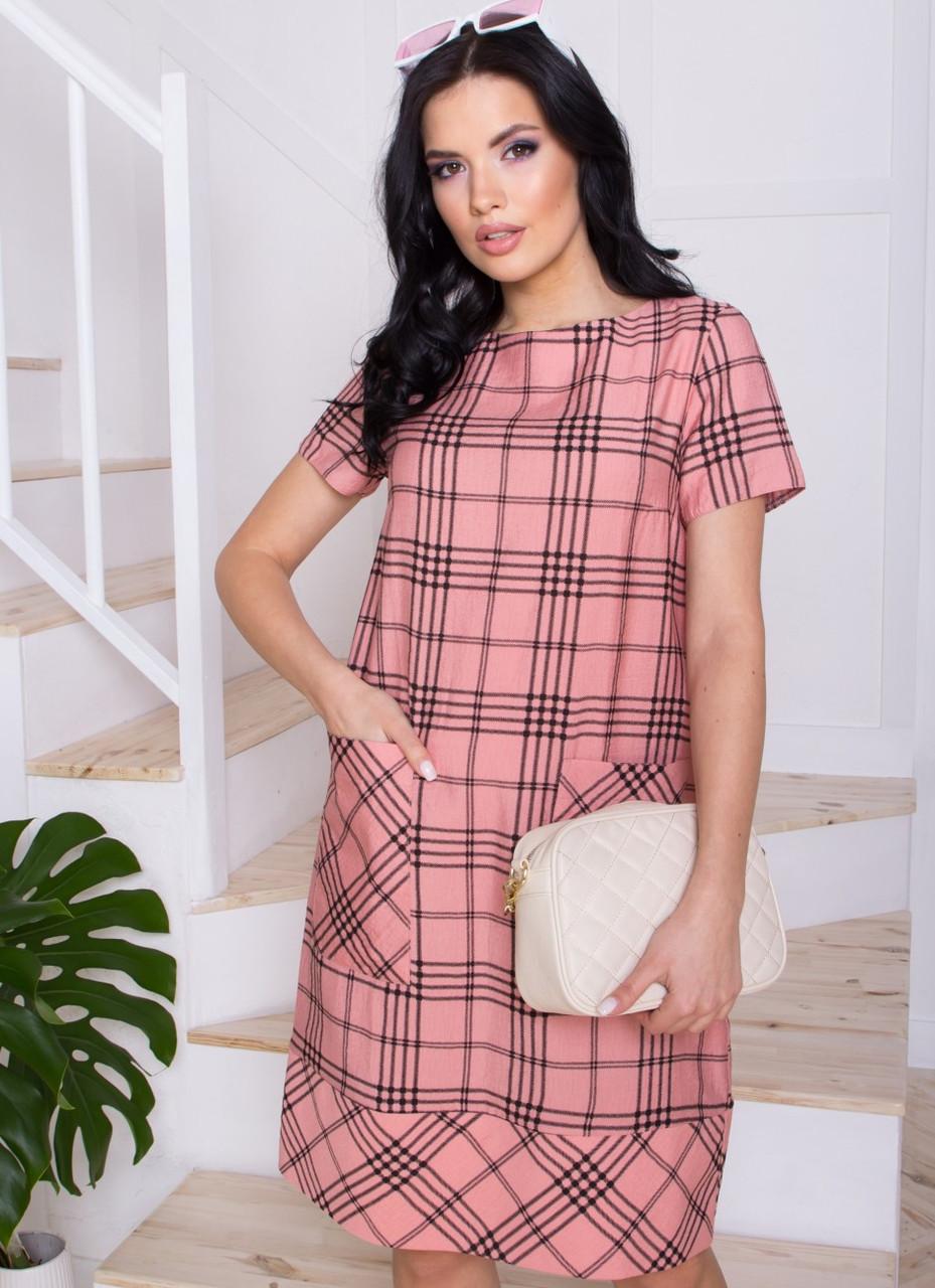 Элегантное женское платье из льна