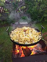 Сковорода с ножками для пикника рыбалки или отдыху на природе и дачи из диска бороны 50см из стали.