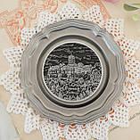 Колекційна олов'яна тарілка з зображенням Замку Ваартбурга - Wartburg, олово, Німеччина, фото 2