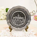Колекційна олов'яна тарілка з зображенням Замку Ваартбурга - Wartburg, олово, Німеччина, фото 4