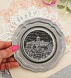 Колекційна олов'яна тарілка з зображенням Замку Ваартбурга - Wartburg, олово, Німеччина, фото 5