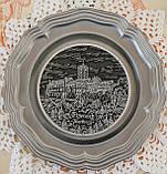 Колекційна олов'яна тарілка з зображенням Замку Ваартбурга - Wartburg, олово, Німеччина, фото 3