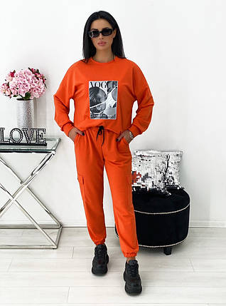 Женский спортивный костюм трикотаж 1417 (АА), фото 2
