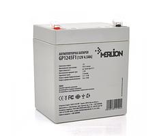 Аккумулятор 12 V  4.5Ah  AGM GP1245F1, 12V 4.5Ah  ( 90 х 70 х 100 (105) ) White/Black Q10 MERLION