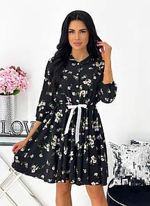 Красивое платье в цветочек 1426 (АА)
