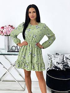 Красивое платье в цветочек 1424 (АА)
