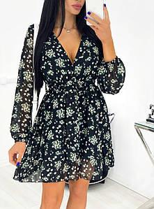 Красивое платье в цветочек 1423 (АА)