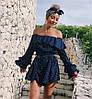 Жіночий стильний комбінезон шортами з відкритими плечима