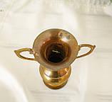 Старая коллекционная латунная вазочка с изящными ручками, латунь, Германия, 14 см, фото 9