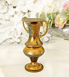 Старая коллекционная латунная вазочка с изящными ручками, латунь, Германия, 14 см, фото 4