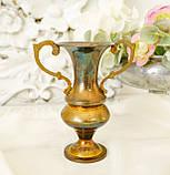 Старая коллекционная латунная вазочка с изящными ручками, латунь, Германия, 14 см, фото 3