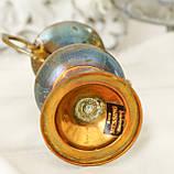 Старая коллекционная латунная вазочка с изящными ручками, латунь, Германия, 14 см, фото 8