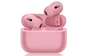 Беспроводные наушники Air Pro 3 Розовые в стиле Apple AirPods сенсорные с кейсом + чехол