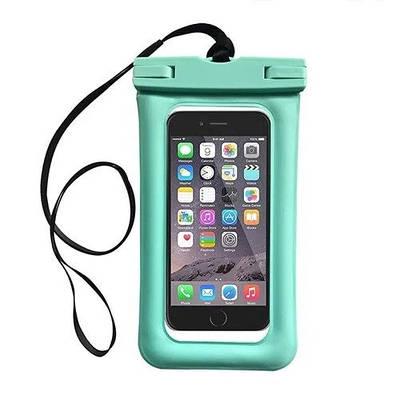 Чохол для смартфонів водонепроникний good Light Прозорий Бірюзовий