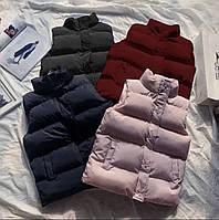 Стильная Женская жилетка Плащевка Канада и Силикон 200 Цвет чёрный синий розовый бордоРазмеры СМ, МЛ