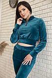 Спорт костюм жіночий 119R279 Смарагдовий колір, фото 4