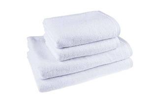 Белое лицевое махровое полотенце для гостиниц