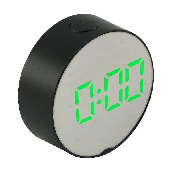 Настільні дзеркальні годинник 6505 з зеленою підсвіткою