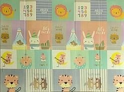 "Детский складной развивающий термо коврик ""Слон + муз.животные"" 200х150х1см (249)"