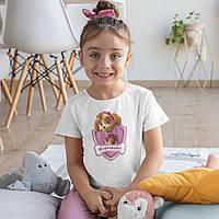 Детская именная футболка для девочки Щенячий патруль Скай