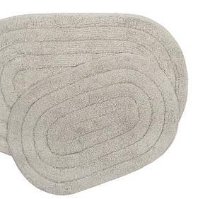 Набір килимків Shalla - Edna tas сірий 40*60+50*80