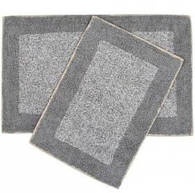 Набір килимків Shalla - Fabio gri сірий 40*60+50*80