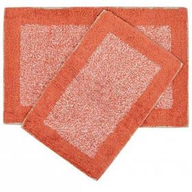 Набір килимків Shalla - Fabio mercan кораловий 40*60+50*80