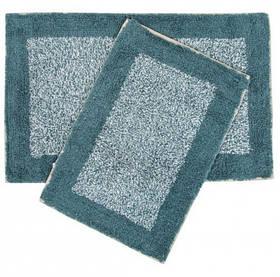 Набір килимків Shalla - Fabio petrol mavisi синій 40*60+50*80