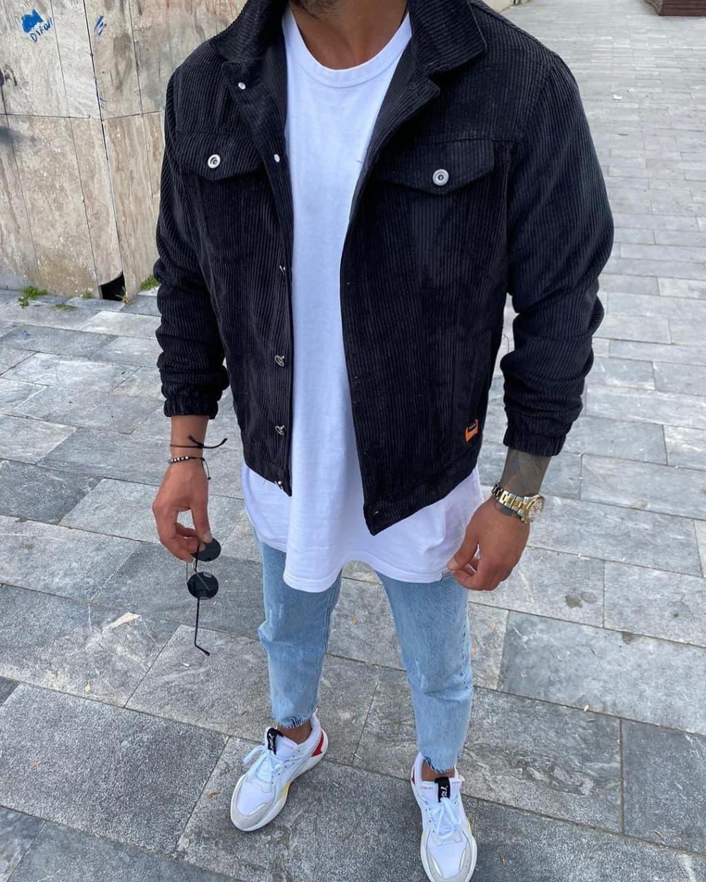 Чоловіча сорочка Вельвет Black