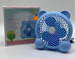 Настільний вентилятор BY-C180-2 Блакитний