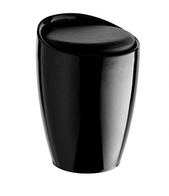 Пуф Мари каркас Черный, подушка Белая (СДМ мебель-ТМ) каркас Черный, подушка Черная