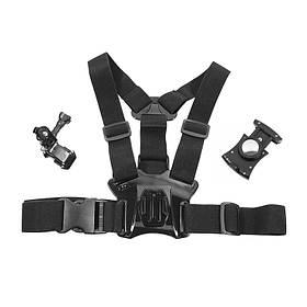 Кріплення на груди OBSHI X02 Black для смартфона Чорний КОД: 6207-20131