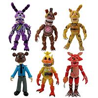 Набор фигурок Пять ночей с Фредди с масками и подсветкой 6в1, 15-19 см - Five Nights at Freddy`s #5
