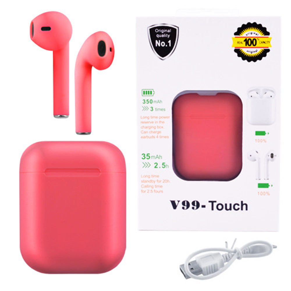Беспроводные наушники с сенсорным управлением V99-Touch. Цвет: красный