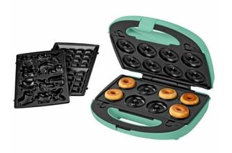 Мультимейкер - вафельниця, печеница, пончнитця SilverCrest 3 в 1 SWEW 750 B3 MINT