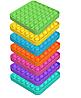 Антистрес квадрат Purple квадрат POP IT Іграшка антистрес, фото 4