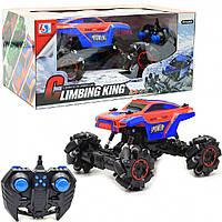 Машинка джип на радиоуправлении Climbing King на роликовых колесах, красно-синяя, 25х19х19 см (955-82)