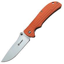 Нож складной Ganzo G723 (длина: 215мм, лезвие: 95мм, сатин), оранжевый