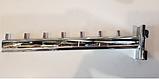Кронштейн (Флейта) в рейку, хром,30см (7 гвоздиків), фото 2