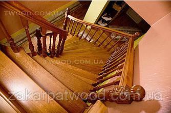 Лестница из дерева ЕЛІТ (БУК)