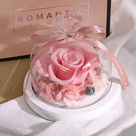 Стабілізована троянда в колбі Lesko L-1346 Рожевий КОД: 6659-22954