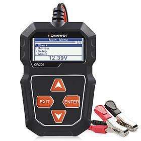 Автомобильно аккумуляторный тестер KONNWEI KW208  КОД: 6864-22985