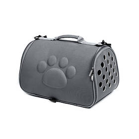 Сумка-переноска для кошек Hoopet 19G0173G Темно-серый  КОД: 6403-21999