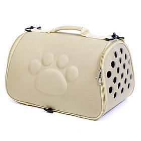 Сумка-переноска для кошек Hoopet 19G0173G Слоновая кость  КОД: 6403-22003