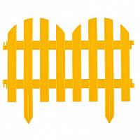 """Забор декоративный """"РОМАНТИКА"""" 28 х 300 см жёлтый 7секций // PALISAD 65023"""